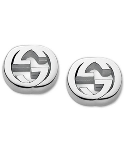 bce94d05e6e Gucci Women s Sterling Silver Interlocking G Stud Earrings YBD35628900100U
