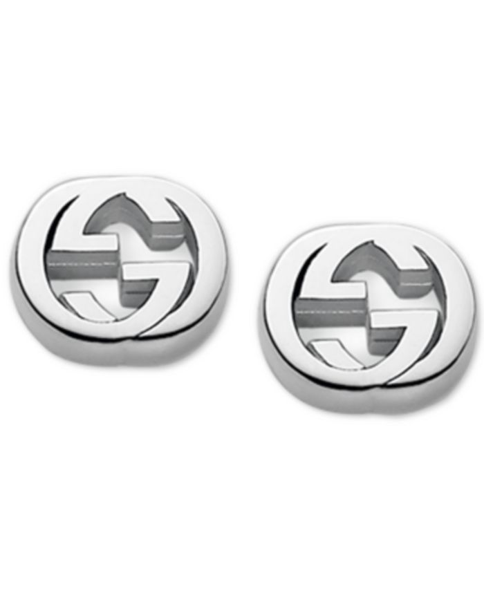 Gucci - Women's Sterling Silver Interlocking G Stud Earrings YBD35628900100U