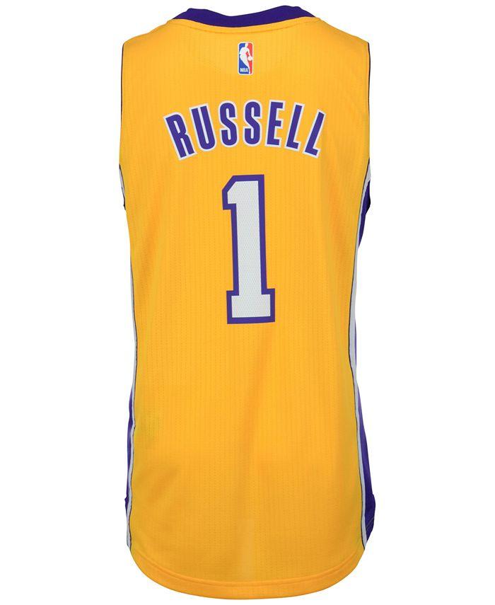 adidas Men's D'Angelo Russell Los Angeles Lakers Swingman Jersey ...