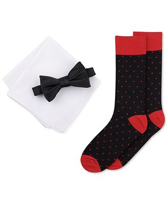 Bar III Men's Bow Tie, Pocket Square & Socks Set, Only at Macy's