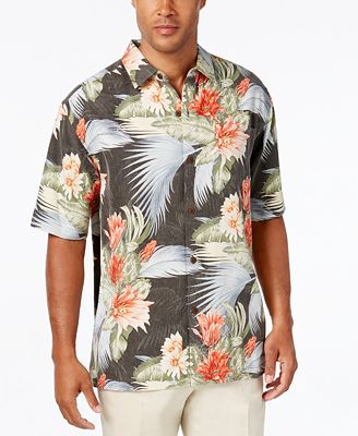 Tommy Bahama Men's Island Luau Silk Short-Sleeve Shirt, A Macy's ...