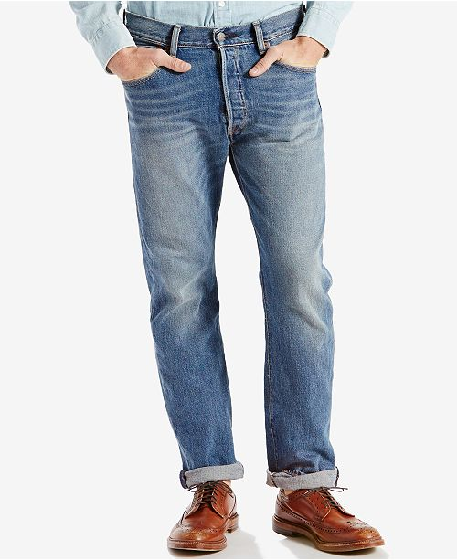 a814f26d32d Levi s Men s 501 Original Fit Stretch Jeans  Levi s Men s 501 Original Fit  Stretch ...