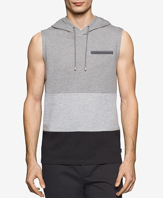 Calvin Klein Men's Colorblocked Sleeveless Hoodie - Hoodies ...