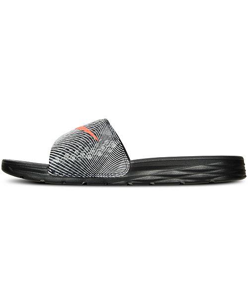 68926a3960ca Nike Men s Benassi Solarsoft Print Slide Sandals from Finish Line ...