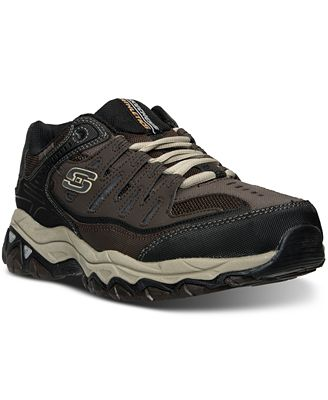 Skechers Men's After Burn M. Fit Wide Width Walking Sneakers from Finish Line
