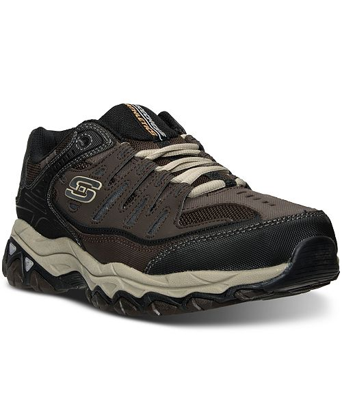 Skechers Men's After Burn M. Fit Wide Width Walking Sneakers from Finish Line 5f4Dy