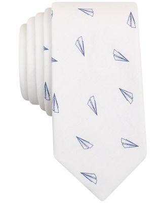 Bar Iii Men S Paper Plane Print Skinny Tie Created For Macy