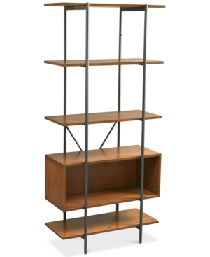 Inspired by mid-century minimalist styling, this fantastic book case has a rich pecan finish and simple metal frame while its multiple shelves offer plenty of options for you to store and display items.