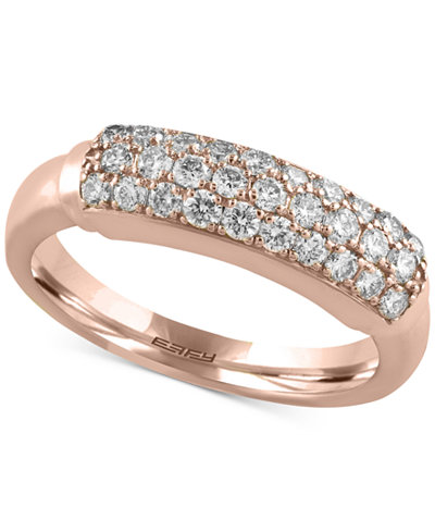 Trio by EFFY Diamond Ring (5/8 ct. t.w.) in 14k White, Yellow or Rose Gold