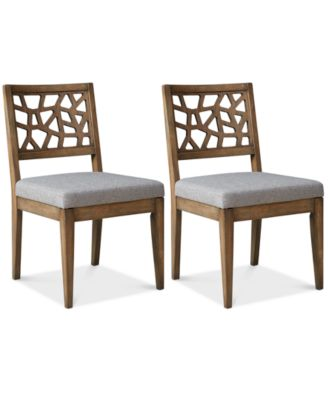 Set Of 2 Crackle Dining Chairs, Quick Ship. Furniture