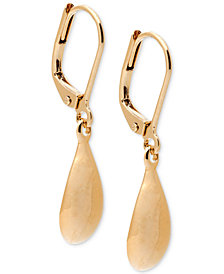 Lauren Ralph Lauren 14k Gold-Plated Hammered Teardrop Drop Earrings