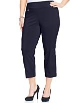 aebedf2d5e81e1 Alfani Plus & Petite Plus Size Tummy-Control Capri Pants, Created for Macy's