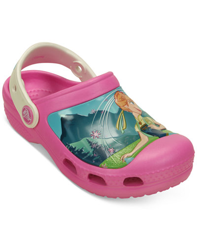 Crocs Little Girls' or Toddler Girls' or Baby Girls' Frozen Fever Clogs