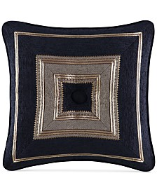 "J Queen New York Bradshaw Black 18"" x 18"" Decorative Pillow"