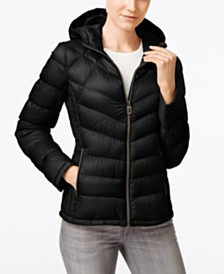 Michael Michael Kors Packable Hooded Down Puffer Coat, Created for Macy's