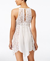 a7e0376ee1b Linea Donatella Flower Child Sheer Lace Chemise