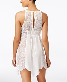 Linea Donatella Flower Child Sheer Lace Chemise