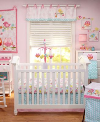 Love Birds 4 Piece Crib Bedding Set