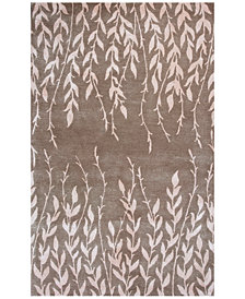 "Kas Bob Mackie Home 1006 Beige Tranquility 7'6"" Round Rug"