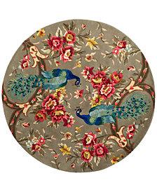 "Kas Catalina 732 Sage Peacock Flora 5'6"" Round Rug"