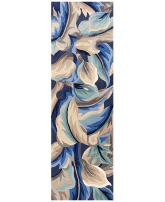 "Catalina 756 Blue Calla Lilies 2'6"" x 8' Runner Rug"