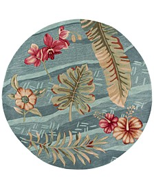 "Coral 4166 Seafoam Visions 5'6"" Round Rug"