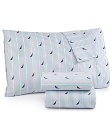 CLOSEOUT! Nautica Printed Twin Sheet Set