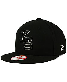 New Era Kansas State Wildcats Black White Fashion 9FIFTY Snapback Cap