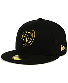 New Era Washington Nationals Black On Metallic Gold 59FIFTY Fitted Cap