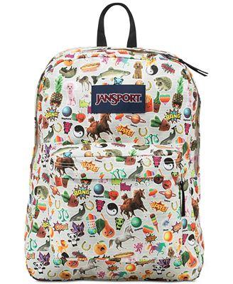 Jansport Superbreak Backpack in Multi Stickers