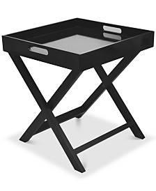 Boyde Tray Table With Removable Tray, Quick Ship