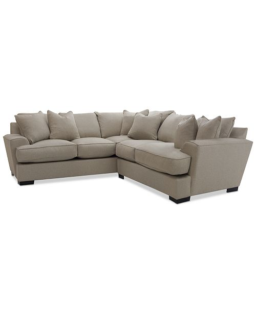 "Furniture Ainsley Fabric Sectional Collection Created For: Furniture CLOSEOUT! Ainsley 2-Piece ""L"" Shaped Fabric"
