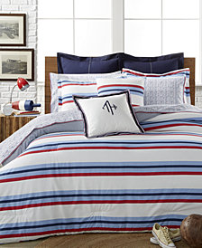 CLOSEOUT! Tommy Hilfiger Edgartown Stripe Bedding Collection