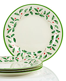Lenox Holiday Melamine Set of 4 Dinner Plates