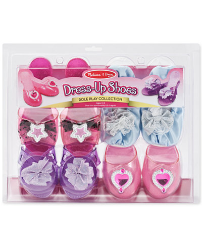 Melissa & Doug Girls' Dress-Up Shoes Role Play Collection