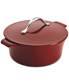 Anolon Vesta Cast Iron 5-Qt. Round Casserole with Lid