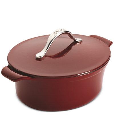 Anolon Vesta Cast Iron Cookware 4-Qt. Oval Covered Casserole