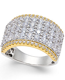 Diamond Multi-Row Band (3 ct. t.w.) in 14k White and Yellow Gold