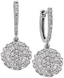 Diamond Daisy Earrings (1-1/4 ct. t.w.) in 14k White Gold