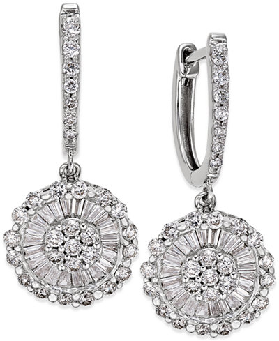 Diamond Daisy Earrings (1-1/4 ct. t.w.) in 14k White Gold