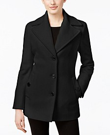 Wool-Cashmere Single-Breasted Peacoat, Created for Macy's