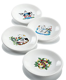 Fiesta Twelve Days of Christmas Set of 4 Salad/Dessert Plates, Second Series in a Series of Three