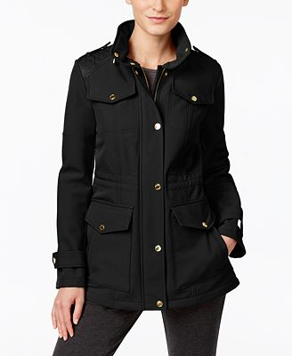 MICHAEL Michael Kors Petite Quilted-Trim Water-Resistant Jacket