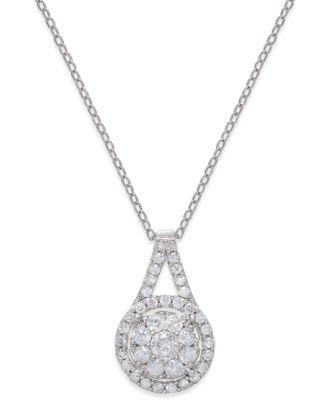 320311dd768d Macy s Diamond Pendant 18