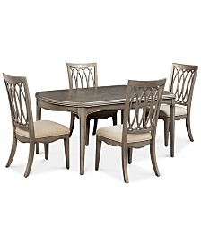 Kelly Ripa Home Hayley 5-Pc. Dining Set (Dining Table & 4 Side Chairs)