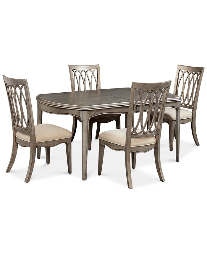Furniture - Hayley 5-Pc. Dining Set (Dining Table & 4 Side Chairs)