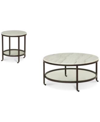 stratus round 2pc set coffee u0026 end table created for - Macys Coffee Table
