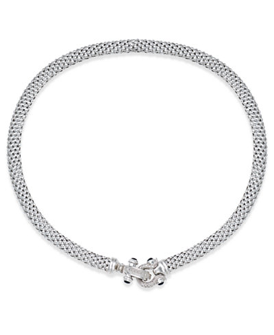 Diamond Horseshoe Clasp Mesh Necklace (1/3 ct. t.w.) in