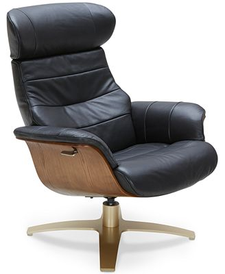 Annaldo Leather Swivel Chair Furniture Macy S