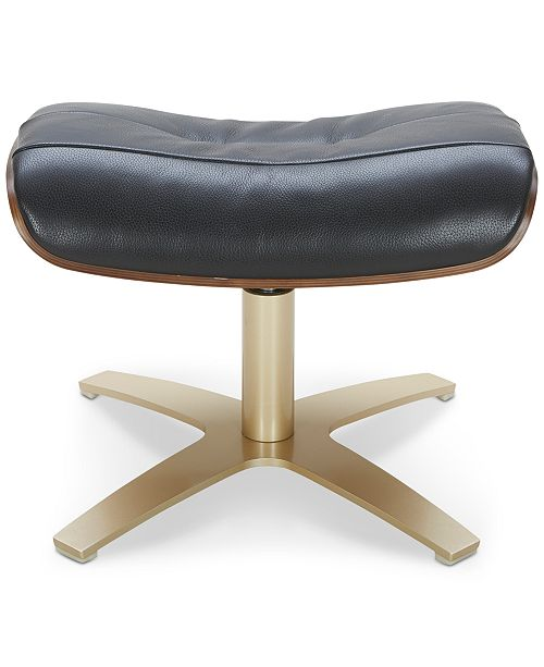 Furniture Annaldo Leather Swivel Chair Amp Ottoman 2 Pc Set
